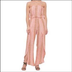 NWT DREW Anthro Strapless striped jumpsuit